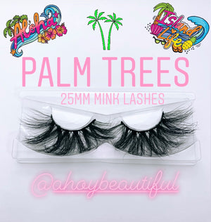 Palm Trees Vacation Luxury Mink Lashes