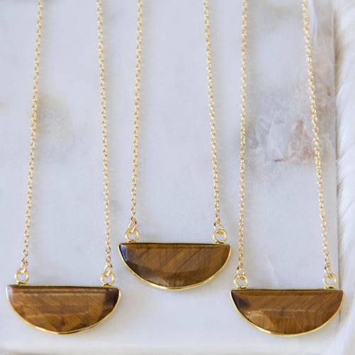 Faceted Tiger Eye Necklace