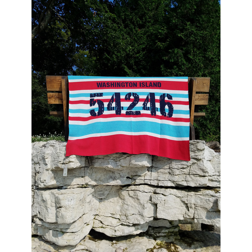 Washington Island Zip Code Eco-Throw