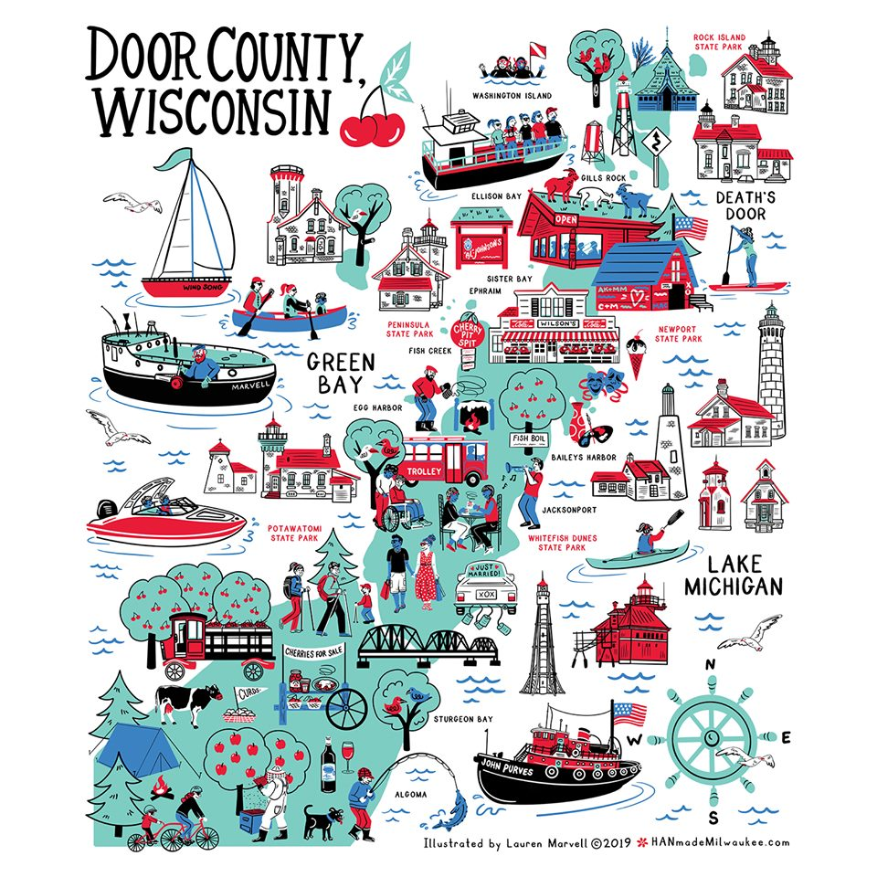 Door County Kitchen Towel