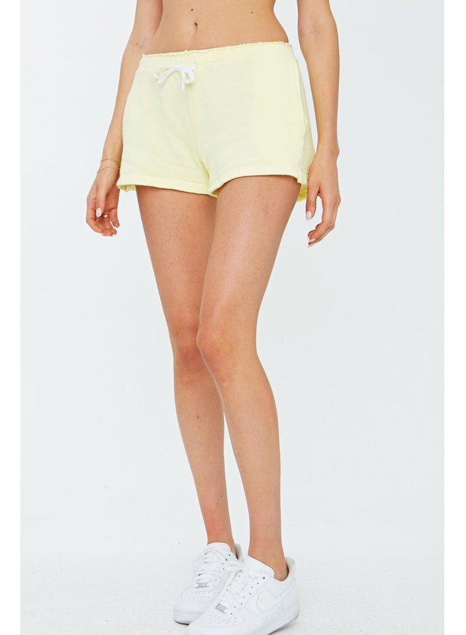 Lemon Zest Fleece Shorts