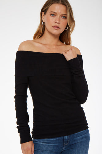 Juniper Cozy Off-Shoulder Top