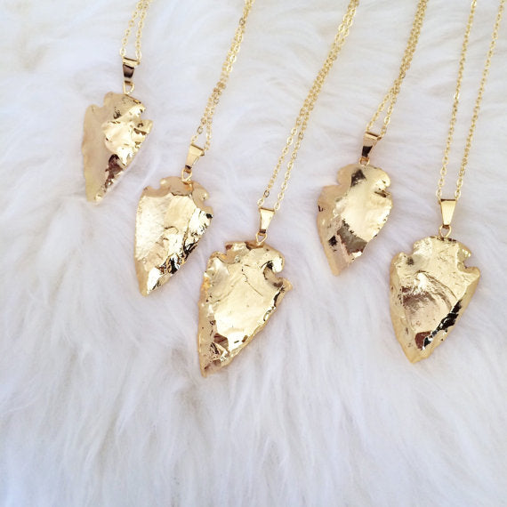 Gold Plated Arrowhead Necklace