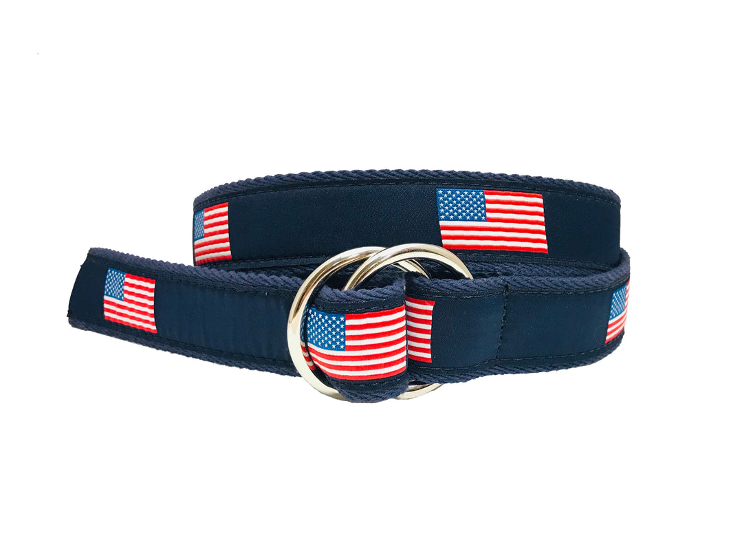 American Flag 0-Ring Belt