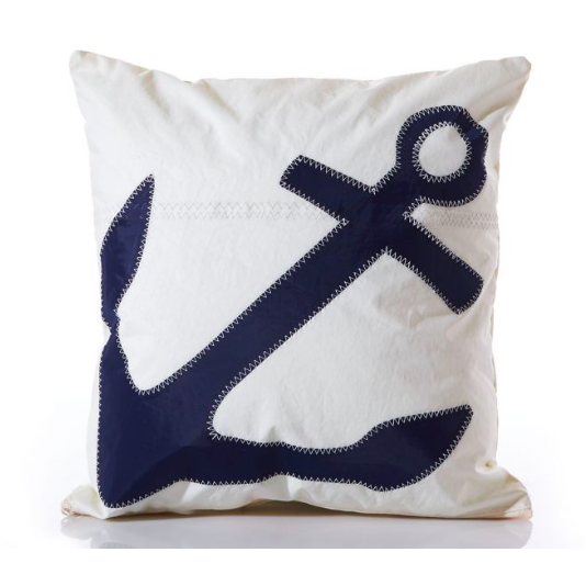Recycled Sail Anchor Pillow