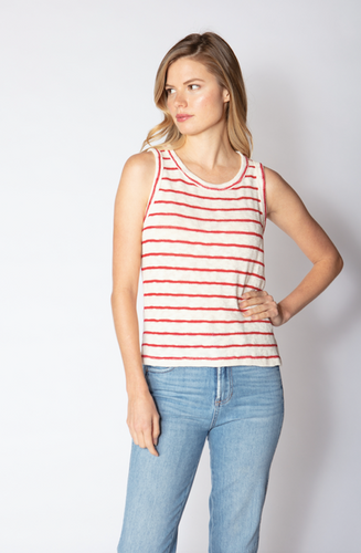 Seashore Stripe Knit Tank