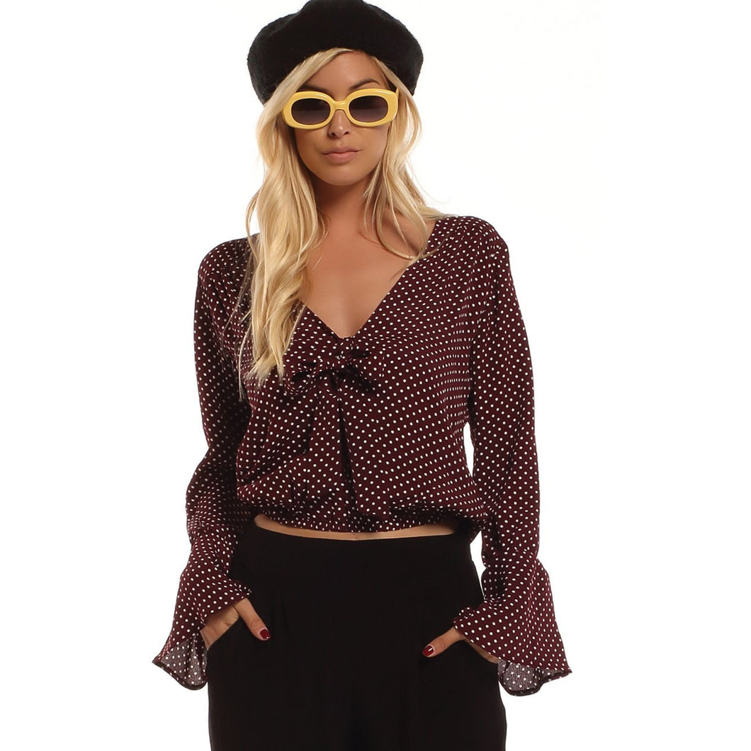 Lucy Love St. Germain Mini Dot Top