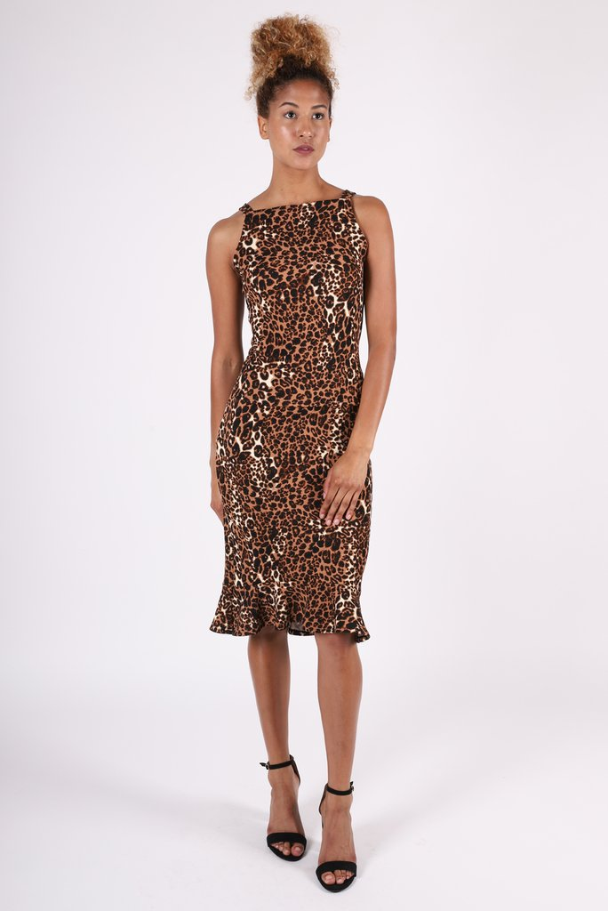 Eva Cheetah Flutter Skirt