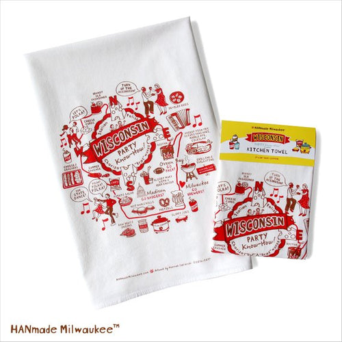 HANmade Wisconsin Party Know-How Towel