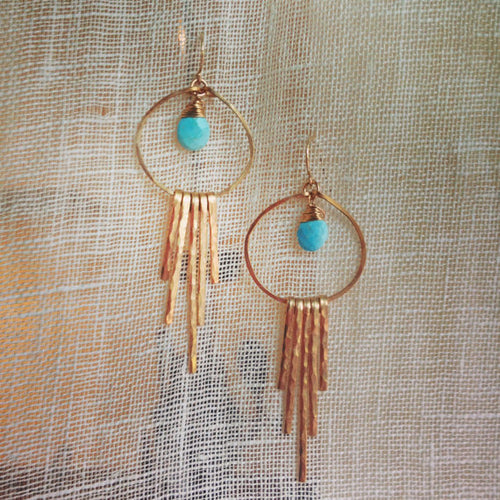 Modern Bronze Desert Sky Earrings
