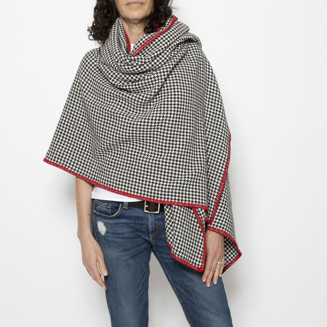 Houndstooth Eco-Poncho
