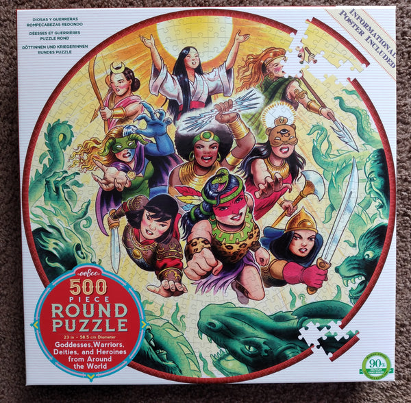 Goddesses and Warriors 500 Piece Puzzle