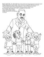 African American Leaders coloring book - Wonders of the World Book and Toy Store