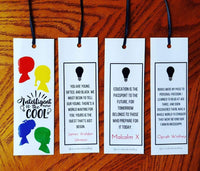 Intelligent is the new cool bookmarks - Wonders of the World Book and Toy Store