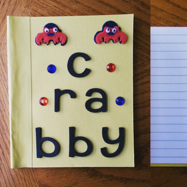 crabby notebook - Wonders of the World Book and Toy Store