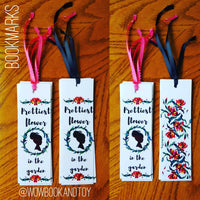 """Prettiest flower in the garden"" bookmarks"