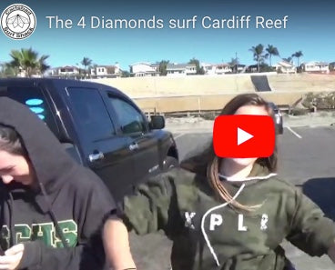 Carlsbad Surf Shack Surfs Cardiff Reef with The Four Diamonds