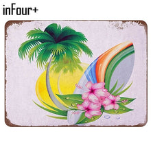 Sakura Surfboard Poster Bar Cafe Wall Decor Metal Sign Vintage Home Decor Tin Sign Retro Metal Plaque Metal Plate Classic Tablet