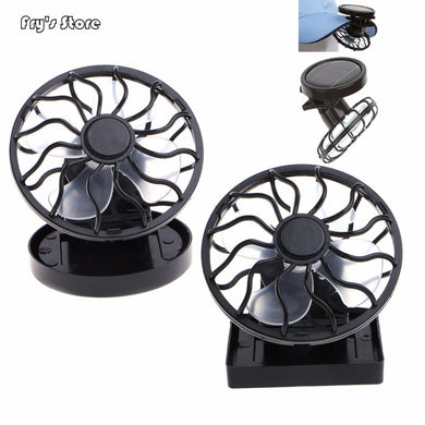 Fry's Store Solar Panel Powered Mini Portable Clip-On Cooling Fan for Travel Camping Fishing for Dropshipping