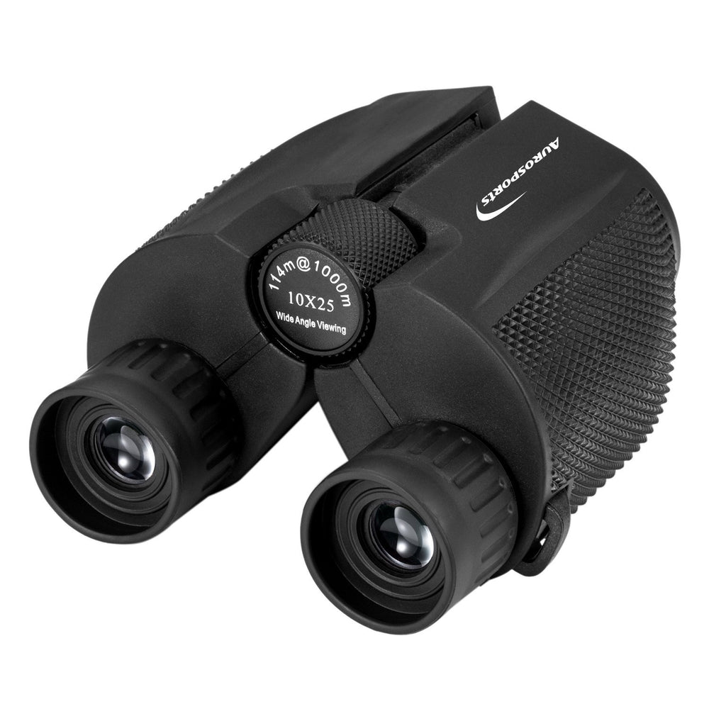 Aurosports 10x25 Folding High Powered Binoculars For Bird Watching