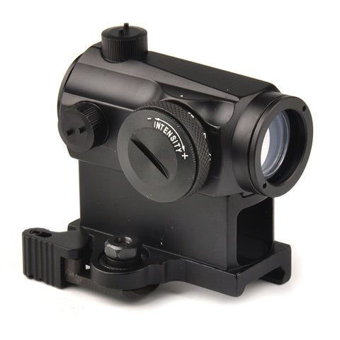 Aurosports Mini 1X24 Rifescope Sight Illuminated Sniper Red Green Dot Sight With Quick Release