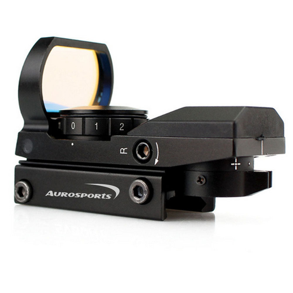 Aurosports 20mm Rail Single Red Dot Riflescope Reflex Optics Sight w/4 Reticles for Hunting
