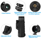 Aurosports 10x42 Monocular Waterproof HD Dual Focus Scope for Hunting