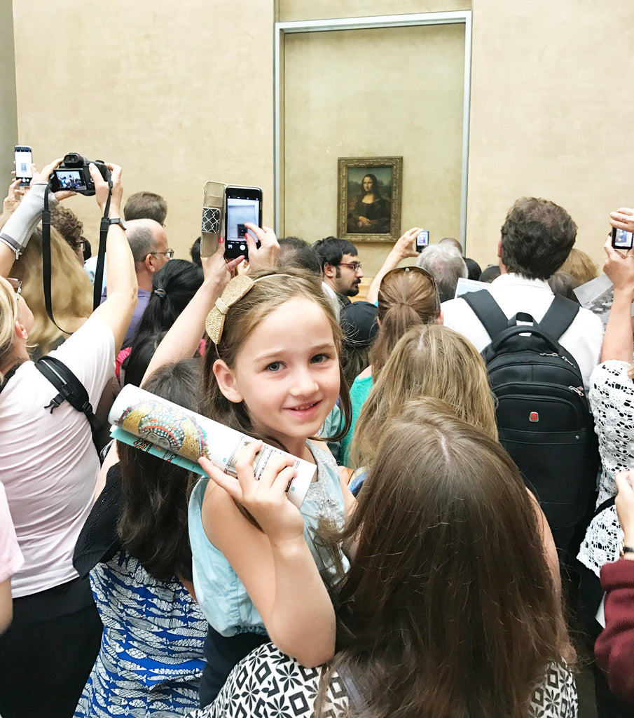 The Mona Lisa at the Louvre - Victoria Road Paris Trip 2017