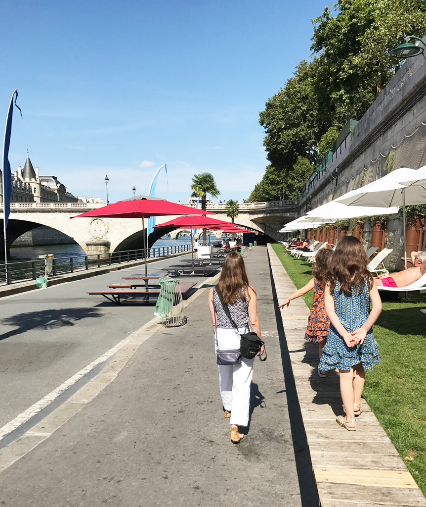 Walking along Paris Plages, Parc Rives de Seine - Victoria Road travels
