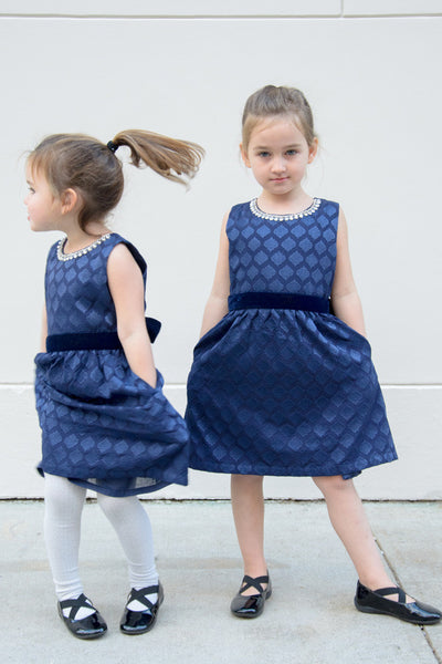 The Mini Audrey Jeweled Party Dress