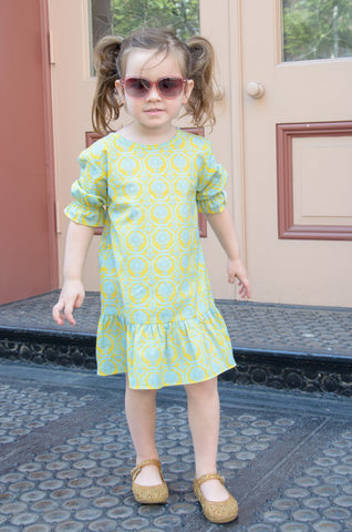 The Zeinab Girls' Keyhole Ruffle Dress