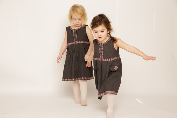 The Mini Blush Border Frock