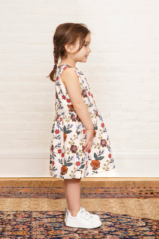 The Samantha Twirly Dress in Autumn Floral Print