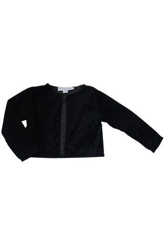 The Nasim Cropped Jacket | Black Velvet