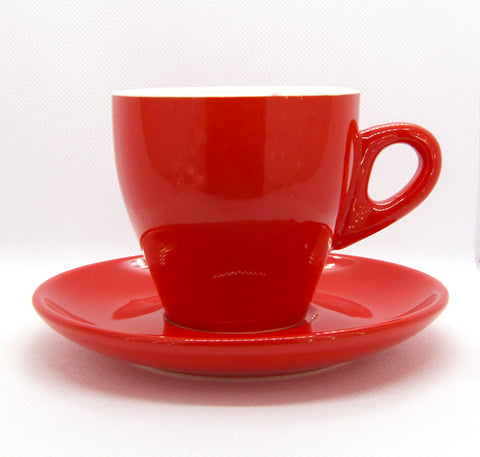 Incasa Red Tulip Cup and Saucer 220ml