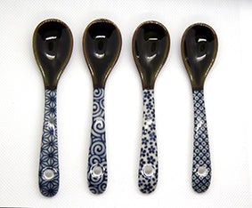 Japanese Oribe Spoon Set of 4