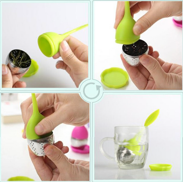 Tea Infuser Leaf with Holder - Silicone