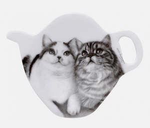 Ashdene Feline Friends Fixated Friends Tea Bag Holder