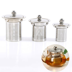 Reusable Stainless Steel Mesh Tea Infuser  With Lid