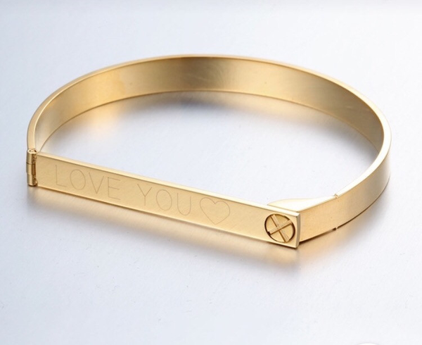 Amour Engraved Customized Bangles