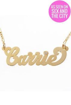 Bradshaw Personalized Nameplate Necklace