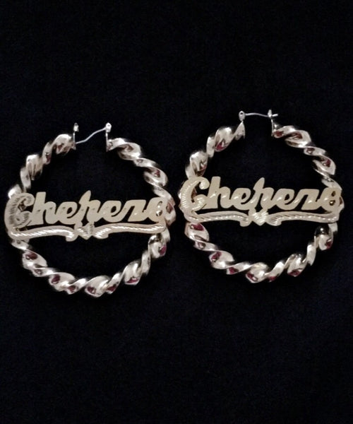 Personalized Twisty Hoops