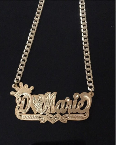 Custom Signature Personalized Nameplate with thick chain