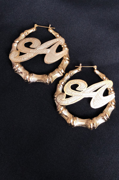 Personalized Bamboo Earrings