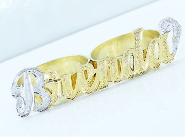 Personalized Signature Style 2 Finger Ring