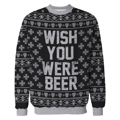 Wish You Were Beer Ugly Sweater