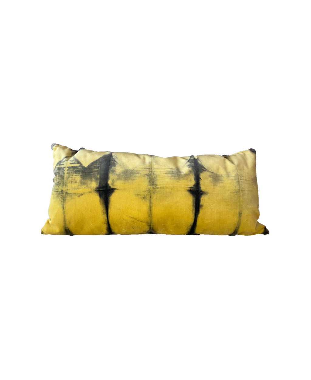 YELLOW TIE DYE VELVET PILLOWS