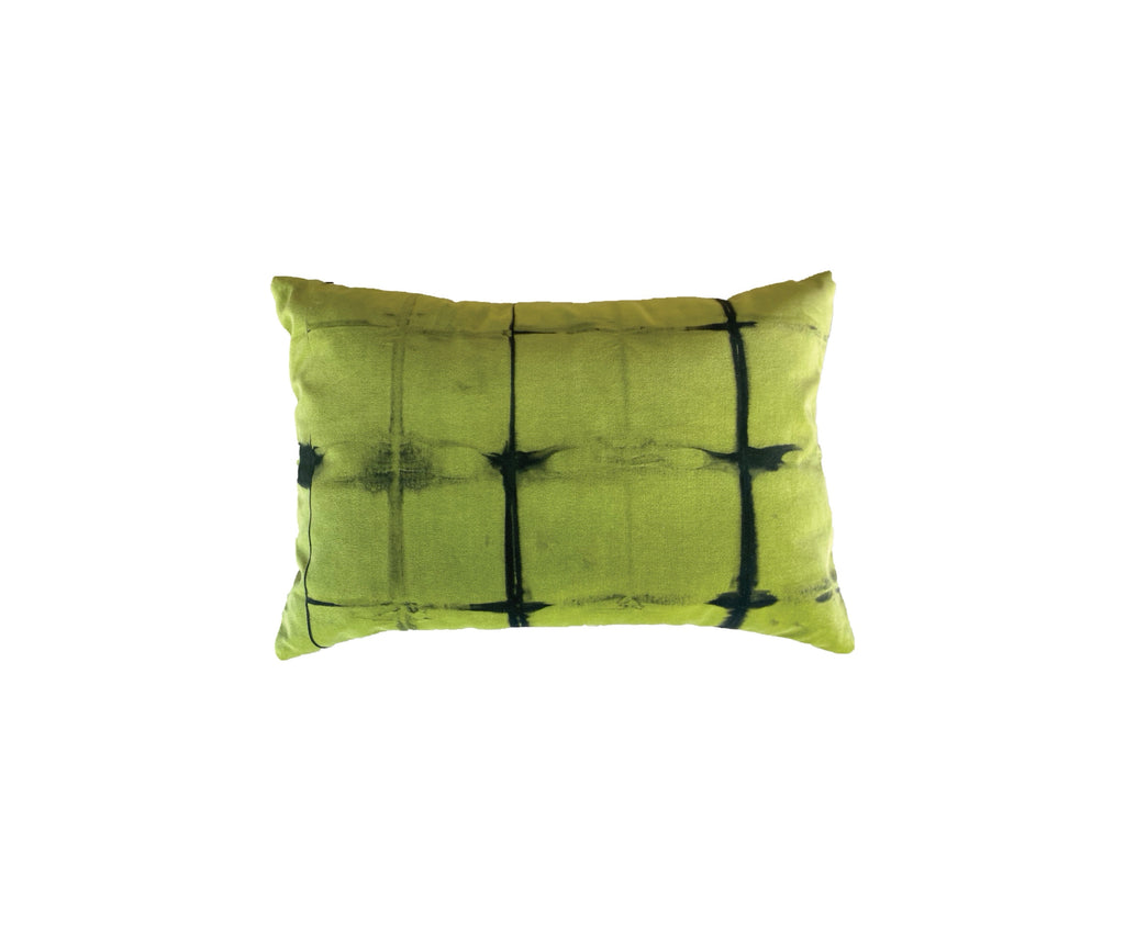 GREEN TIE DYE VELVET PILLOWS
