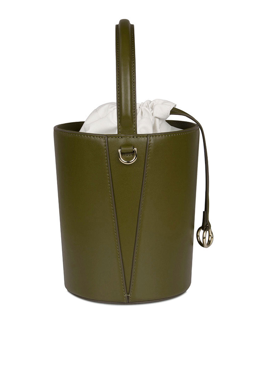 LEATHER KIWI BASKET BUCKET