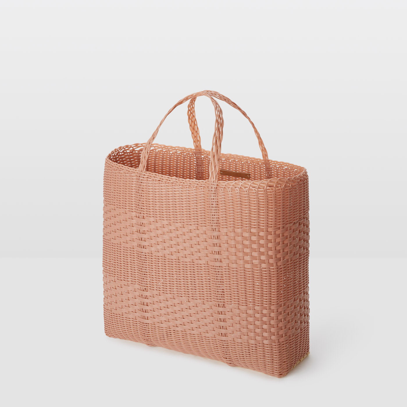 LARGE HANDWOVEN PLASTIC : ROSE